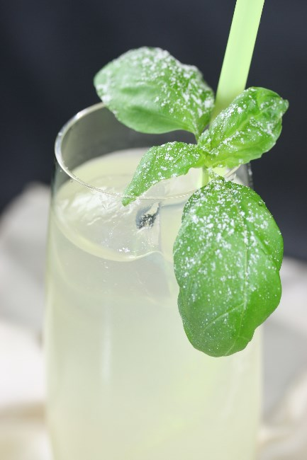 Cocktail Pisco Basil Fizz